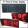 "8"" red color,temperature,time,led clock,led module,7 segment of the modules, semi-outdoor,led signs,led gas price"