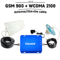GSM Repeater 3G Set Cell Signal Booster 900mhz 2100mhz Dual Band GSM Amplifier for home 3G GSM Booster