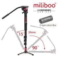 Miliboo MTT704Bプロフェッショナルポータブル炭素繊維カメラビデオカメラの三脚用ビデオ/デジタル