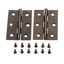 2Pcs 63*40mm Antique Zinc Alloy Furniture Hinge Cabinet Door Butt Hinge Vintage Jewelry Wood Box Decorative Hinges with Screws 30 20mm 10pc kimxin in stock zinc alloy hinge hinges for jewelry boxes jewelry and gif box hardware metal hinges w screws w 094