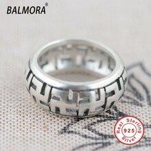 100% réel pur 925 bijoux en argent sterling simple anneaux de mode pour hommes anniversaire cadeau de fiançailles de haute qualité Bijoux SY20496