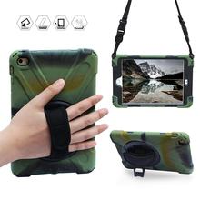 Conelz For iPad Mini 4 Case Hybrid Shockproof Full-Body Protective 360 Swivel Kickstand Hand Strap Shoulder