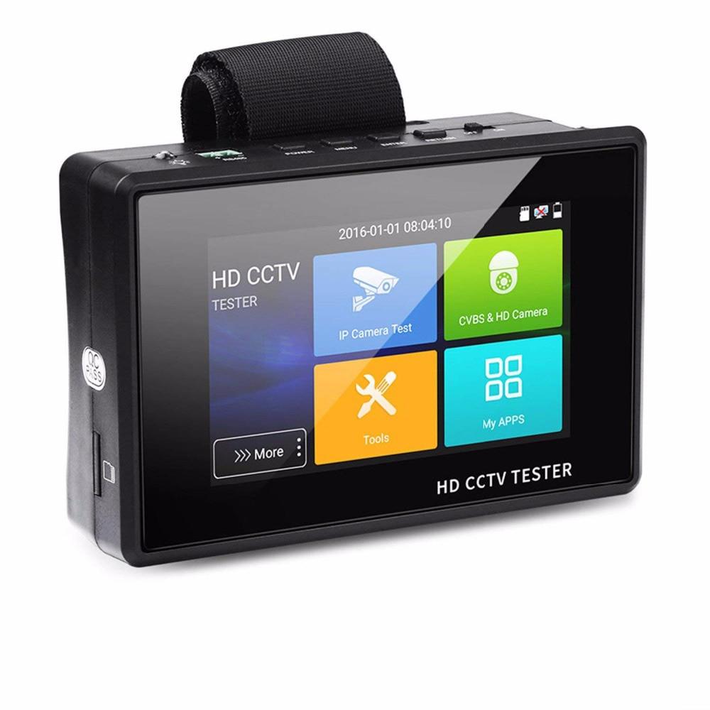 4 pouces 4 K H265 H264 IP Caméra Testeur 8MP TVI 5MP AHD 4MP CVI CVBS CCTV Testeur Moniteur PTZ contrôleur Rapide ONVIF CIB Testeur