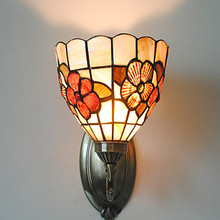 Tiffany Style Floral LED Vintage Wall Lamp Home Indoor Lighting Retro Wall Lights Sconce Appliques Murale