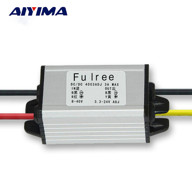 AIYIMA 8V 12V 24V Turn 5V 3A Power Converter Step Down Transformer Adjustable Module Car Audio