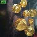 Prata Banhado A Forma de Bola de Aço Inoxidável moderna Lâmpada de Pingente de Ouro Pingente de Luz, Loja/Bar/Sala de Estar/Jantar quarto/Shopping Iluminação Interior