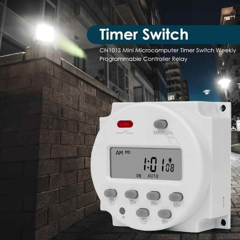 CN101S Mini Mikro Timer Switch Mingguan Programmable Controller Relay Jam Programmable Waktu Socket