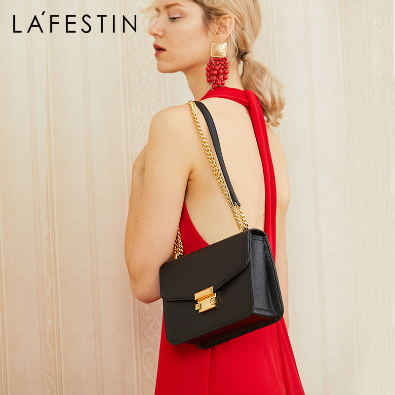 LA FESTIN elegant geometric bag Luxury Shoulder bags Designer Genuine Leather Crossbody Bags For Women 2018