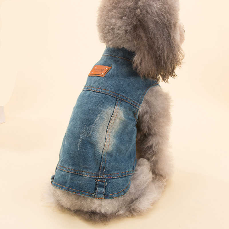 Fashion Style Clothes For Dog Jeans Chihuahua Apperal S M L Cowboy Style Pet Jacket Dog Clothes For Yorkshire For Small Vest XL
