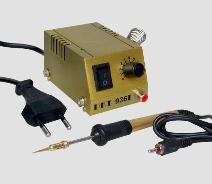 ФОТО DKT-936I Mini Soldering Station Adjustable Thermostat Solder Iron Welding Platform Equipment Solder Station for SMD SMT DIP