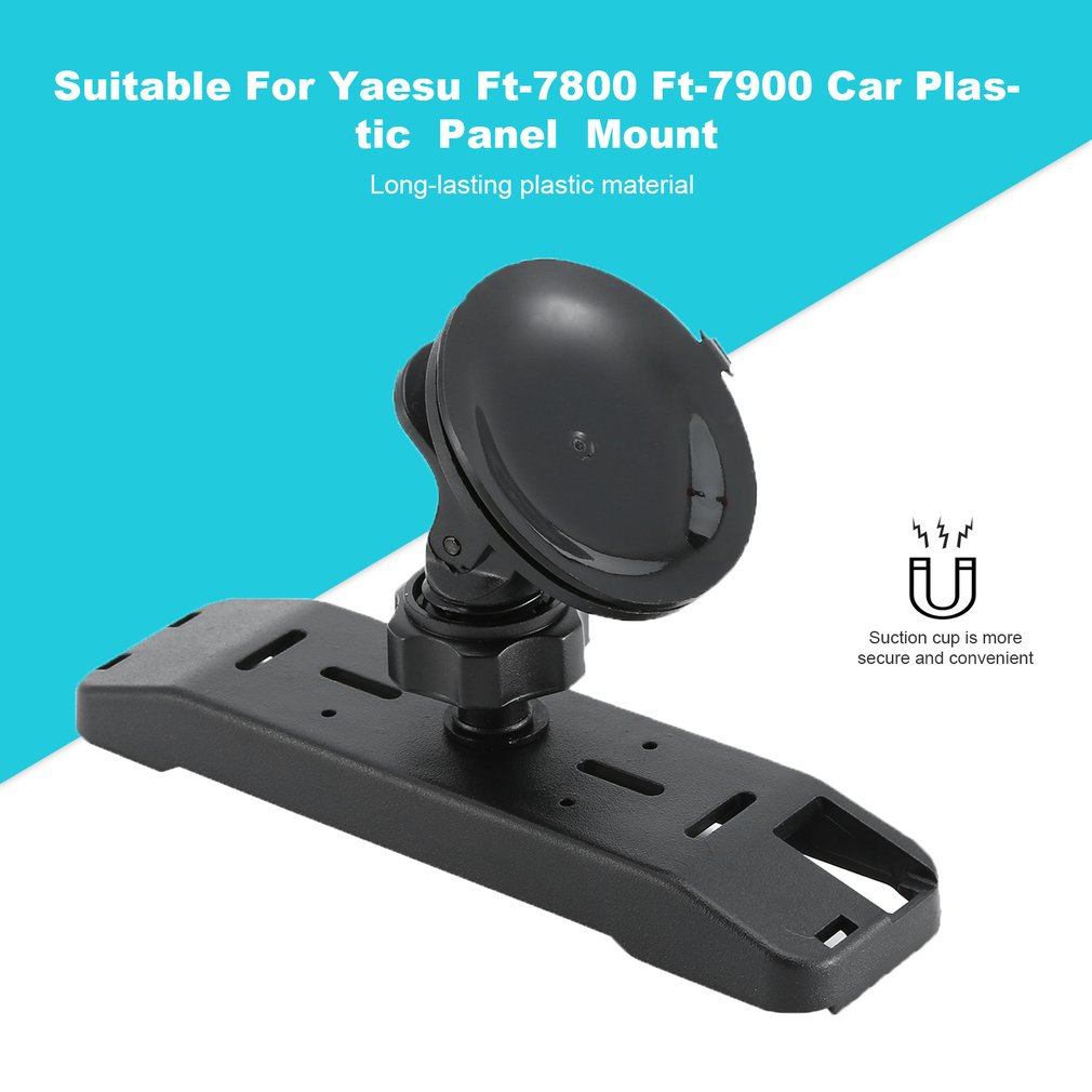 Durable Plastic Panel Mount For Yaesu Ft-7800 Ft-7900 Car Mobile Two Ways Radio Walkie Talkie Black Sucker Panel Bracket