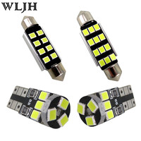WLJH 8x Pure White Canbus Error Free Map Reading Trunk Light For Volkswagen VW Golf 7