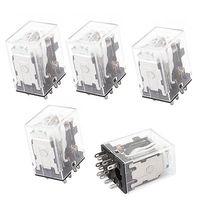 HH53PL DC 12V Coil 11 Pins 3PDT Green LED Indicator Lamp Power Relay 5 Pcs Free