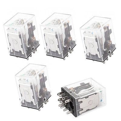 HH53PL DC 12V Coil 11 Pins 3PDT Green LED Indicator Lamp Power Relay 5 Pcs  Free Shipping цена и фото