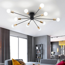 Umeiluce Modern Nordic Ceiling Light Painted Iron Luminaria Chandelier Lamp for Living Dining Room Bar Coffee