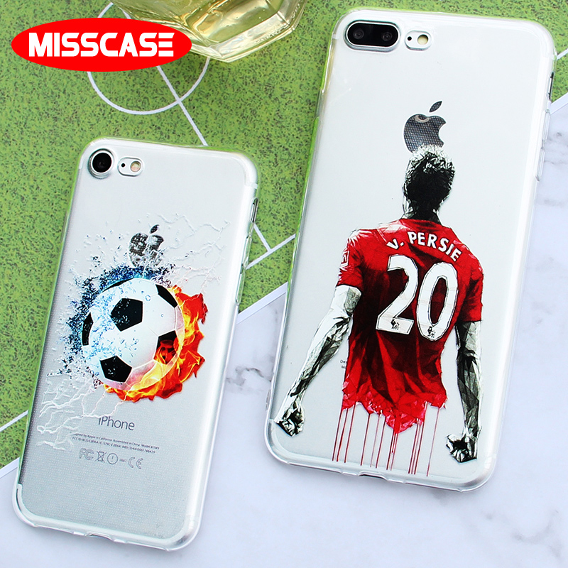 MISSCASE football soccer 2018 Case for iphone 6 6s plus 5 5s se Soft Silicone TPU Cover Coque for Apple iphone X 7 8 plus Case