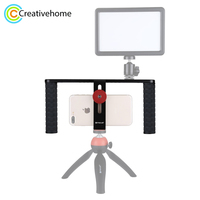 PULUZ Smartphone Video Rig Filmmaking Recording Handle Stabilizer Aluminum Bracket for iPhone, Galaxy, Huawei,and Other Phone