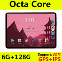 Free Shipping 10 inch Octa Core tablet PC ! 3G 4G LTE Phone Call 6GB RAM + 128GB ROM Dual SIM Google Android 8.0 GPS Pad 10
