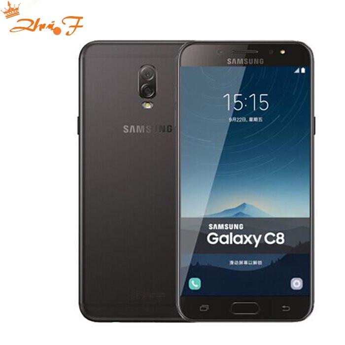 Samsung Galaxy C8 (SM-C7100) super AMOLED FHD 4g RAM 64g ROM 16MP Avant Caméra double sim Octa Core Lte 4g Mobile téléphone
