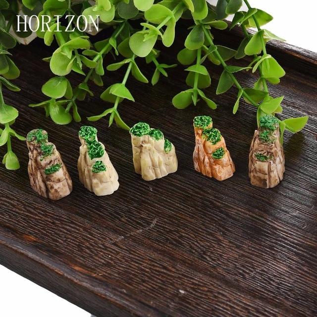 5/10PCS/Set Mini Mountain Miniature Toys Bonsai Ornaments Plant Gardening Garden Accessories Natural Resin Home Decorative 2