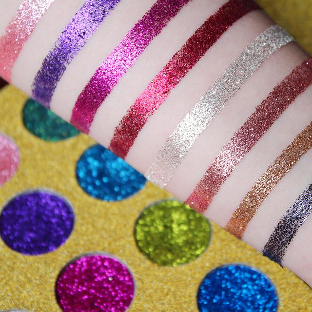IMAGIC sombra de ojos 12 colores brillo única para ojos uñas y labios suaves y pigmentadas de alta duración