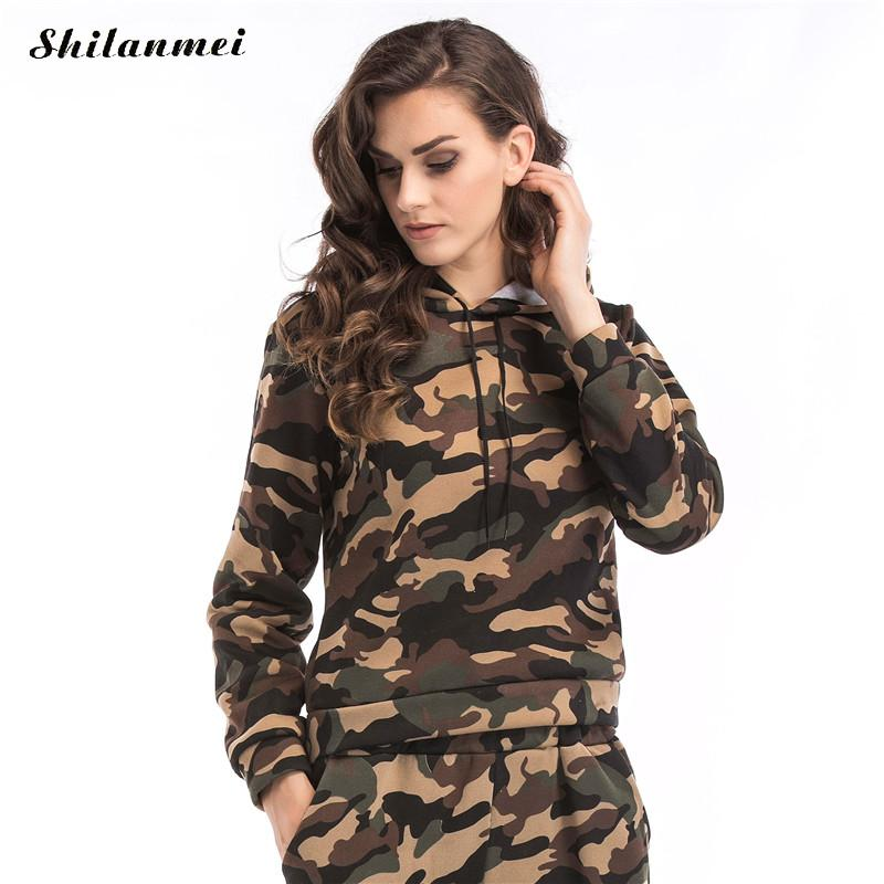 2017 autumn winter women hoodies camouflage sweatshirt tracksuit red army green sweat femme long sleeve casual pullover tops bts