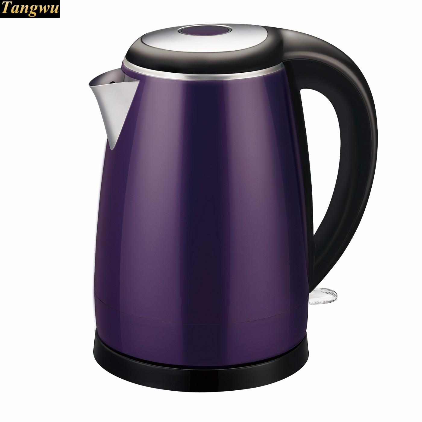 Household electric kettle 304 stainless steel automatic power off cukyi stainless steel 1800w electric kettle household 2l safety auto off function quick heating red gold