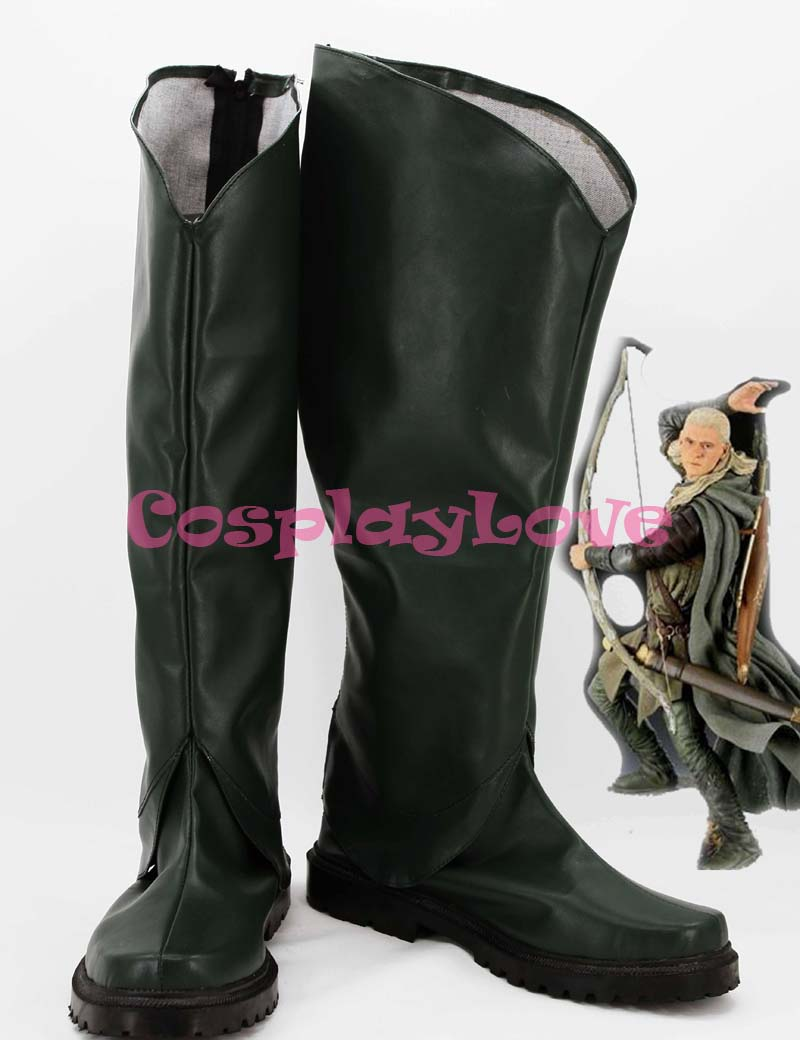 The Lord of the Rings Legolas Cosplay Shoes Boots Custom Made For Halloween Christmas Festival CosplayLove