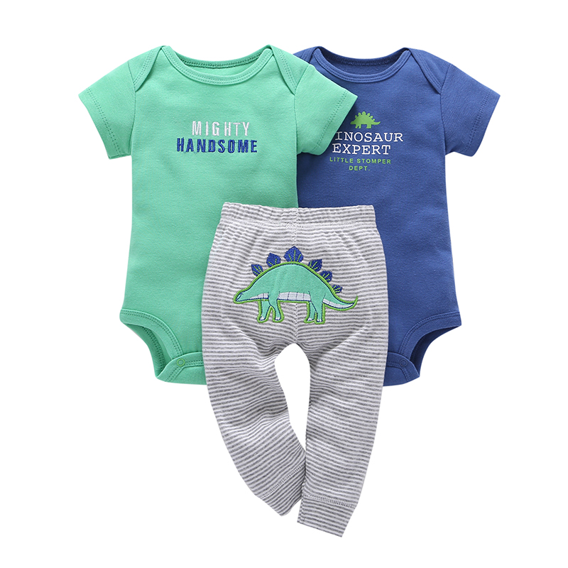Children brand Body Suits 3PCS Infant Body Cute Cotton Fleece Clothing Baby Boy Girl Bodysuits 17 New Arrival free shipping 4