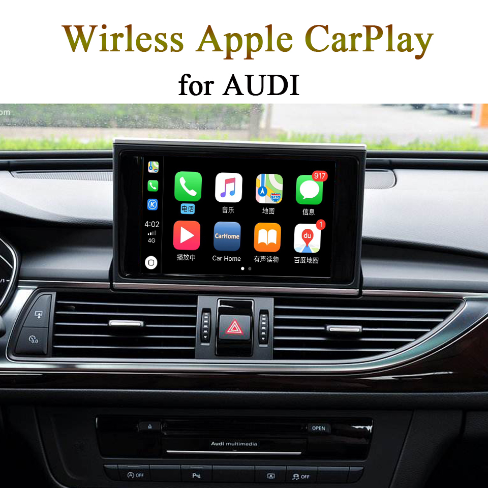 Wireless OEM Mobile Phone CarPlay Retrofit for A6 AUDI Enjoy Music / Map / Calling App from iPhone image