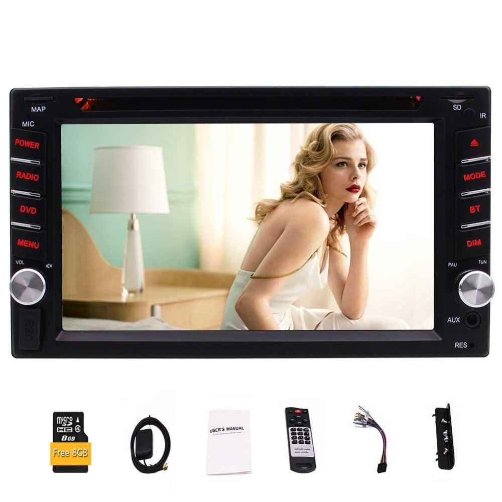 Eincar 6.2 двойной дин стерео Встроенный навигация Bluetooth DVD/us карты 1080 P игры и USB/ microSD Порты FM/AM/RDS Радио