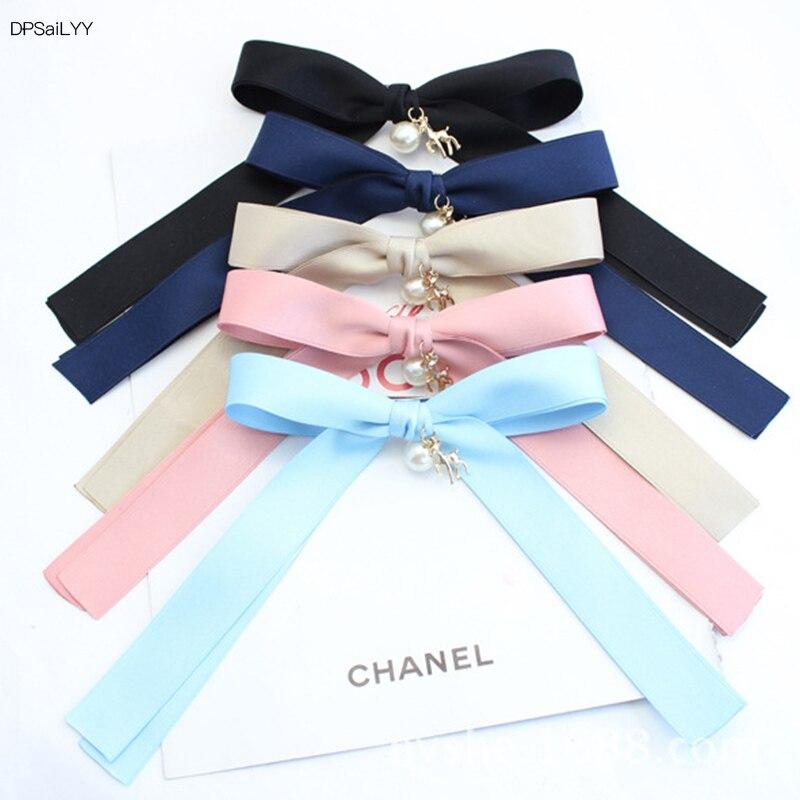 DPSaiLYY 5PC  Korean Fashion GirlsBig Bow Ties Hair Clips pins Clot Hair clip Non Slip Hair Headbands Women Hair Accessories