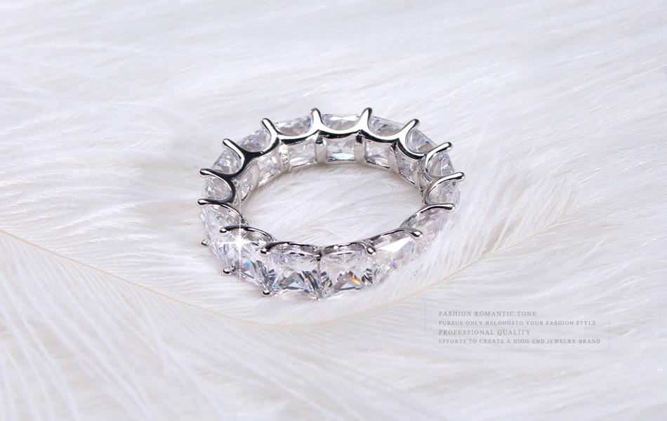 HTB1ml2lgNuaVKJjSZFjq6AjmpXaN ORSA JEWELS 100% Real 925 Sterling Silver Rings For Women Men Engagement & Wedding Band AAA CZ Trendy Party Jewelry SR48