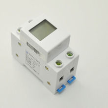 Rail type single-phase household digital display power display, electric energy electricity metering module, AC current display single phase ac digital display of intelligent current and voltage combination table zyx72 ui sx72 72av