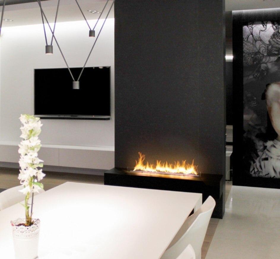 Inno Living Fire 60 Inch 150cm Smart Control Camino Elettrico Bio-ethanol Fireplace