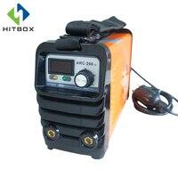 HITBOX двойной Напряжение дуговой 110 В 220 В ARC200 небольшой ММА сварочные инструменты с изменениями на разъем для углерода сталь с ремешками