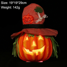 New Halloween Pumpkin Decoration Lantern Night Light Lamp Prop Artificial Bubble For Party Indoor Outdoor Lights