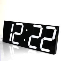 LED Digital Wall Clock Wake Up Light Large Wall Clock Electronic Stopwatch Timer Weather Station New Year Decoration Watch Mural