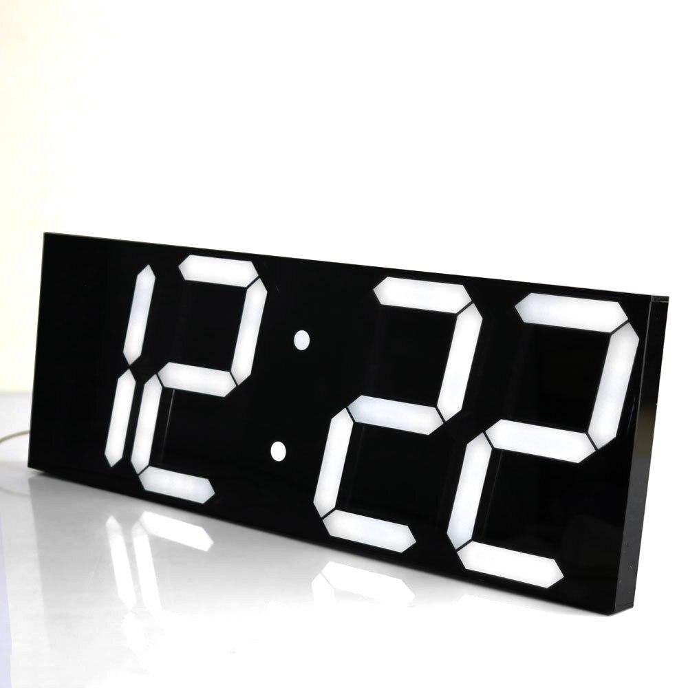 Horloge Murale Numérique à LED Réveil Lumière Grande Horloge Murale Électronique Chronomètre Station Météo Nouvel An Décoration Montre Murale