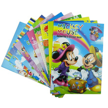 5 PCS Coloring Books With Stickers Creativity Children Game For Drawing Educational Toys For Kids New Year Christmas Gifts