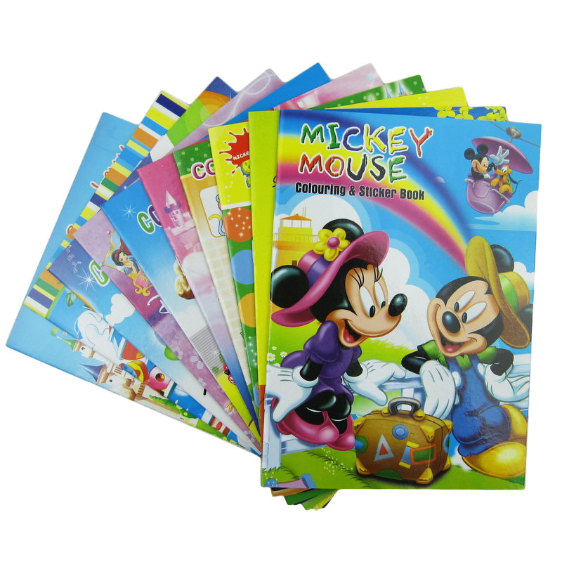 5 pcs coloring books for children with sticker pens educational toys skechers painting for kids new year christmas gifts - Drawing Books For Children