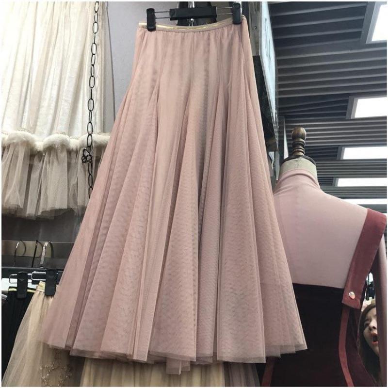 5f7cb7188 Primavera Coreano Elegantes Llegada Largas 2019 Faldas Estilo Nueva ...