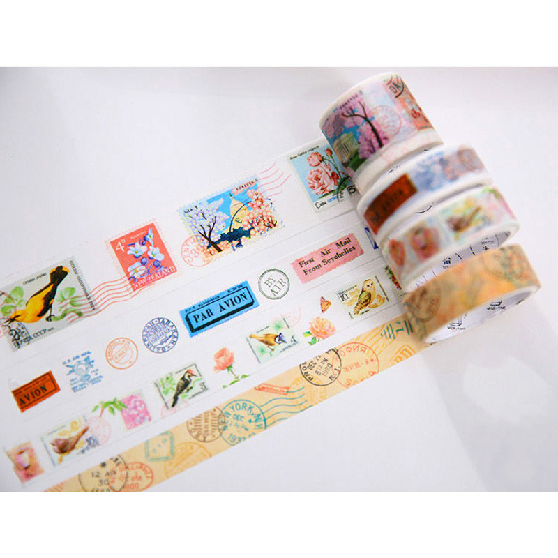 The Vintage Journey Tape Decorative Adhesive Washi Masking Tape Diary Planner DIY Sticker Creative Gift Stationery4 Roll/Bag morais r the hundred foot journey