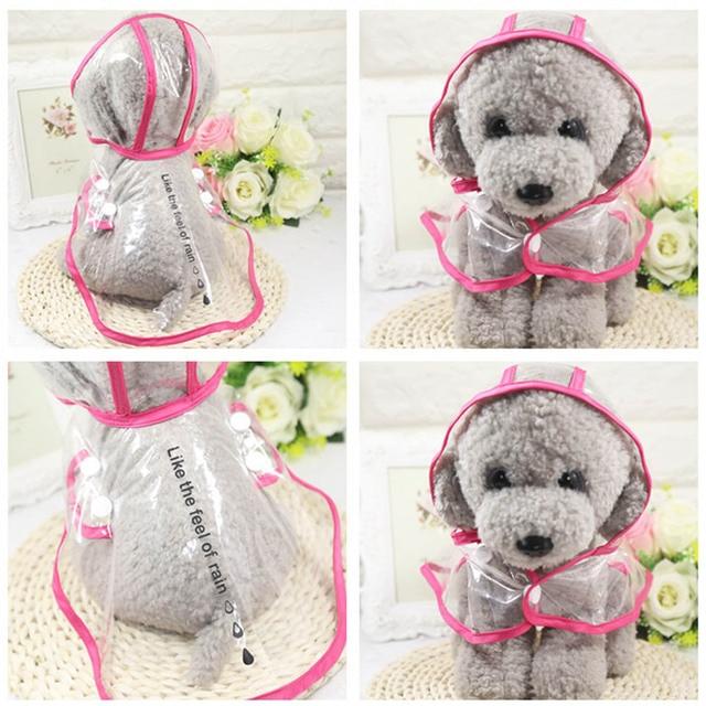 cbbb8495b5 Animali Domestici impermeabili Impermeabili Fashion Pet Vestiti Del Cane  Impermeabile Trasparente Cappotto di Pioggia Cani di