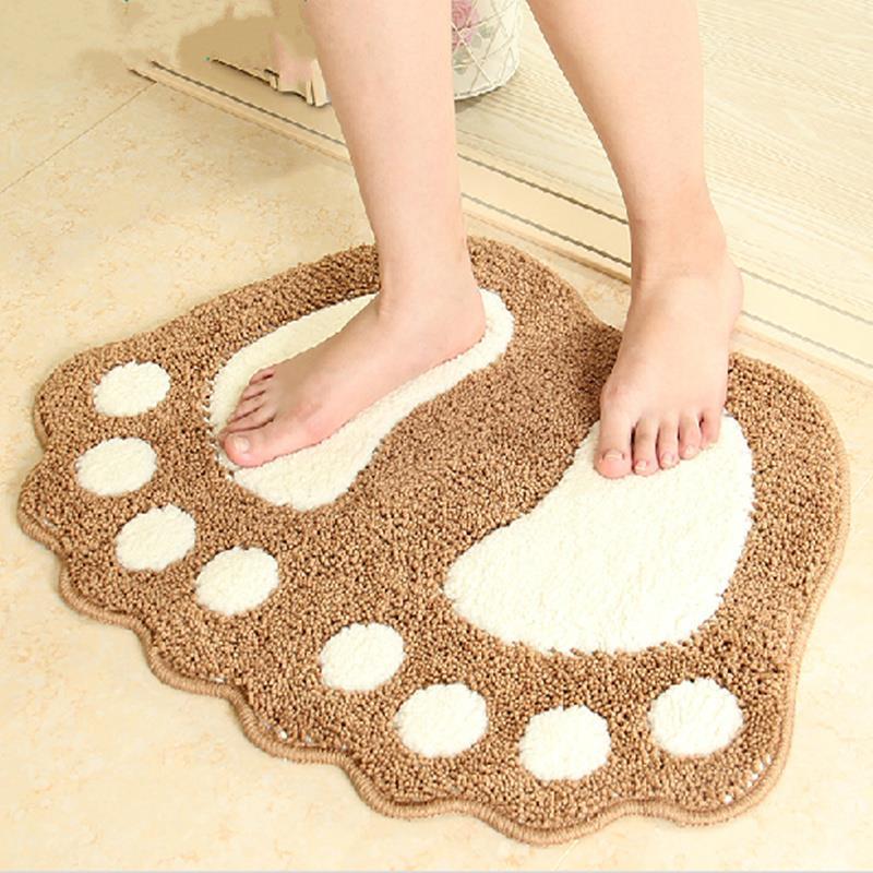Fashion Non Slip Dust Doormat Absorbent Bathroom Floor Rug bathroom carpet Rug Bath Mats living room decoration