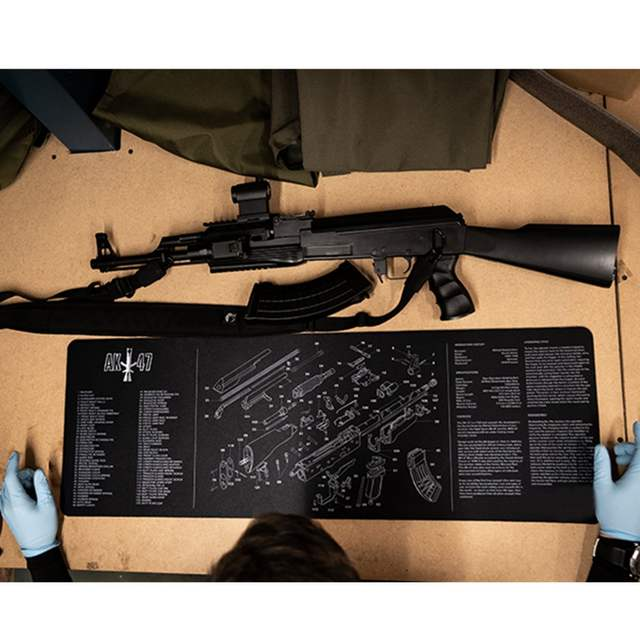 online shop ar15 ak47 gun cleaning rubber mat with parts diagram and  instructions armorers bench mat mouse pad for glock sig p226 p229 |  aliexpress mobile