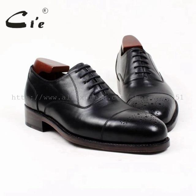 d2d37c391d16 cie high quality custom handmade genuine calf leather upper outsole dress  work men s oxford shoe flats blackOX393 Goodyear welt