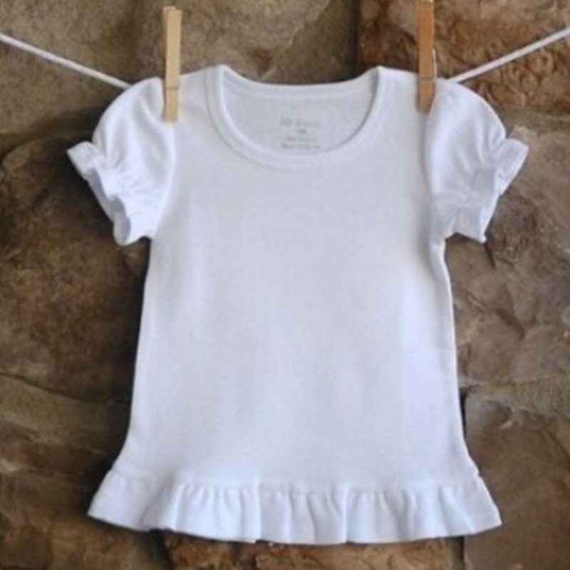 Children's Clothing Summer Style Girls Short-sleeve White t <font><b>shirts</b></font> Fashionable Casual Top <font><b>Baby</b></font> Girl <font><b>Basic</b></font> t-<font><b>shirt</b></font> Roupa Infantil image