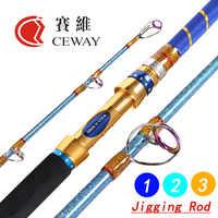 Carbon Fibre Angelruten Jig Pole Boot Stange Hart Leistungsstarke Jigging Pol Fisch Liefert 1,5 abschnitt 1,73 m 1,83 m 1,9 m FREIES VERSCHIFFEN