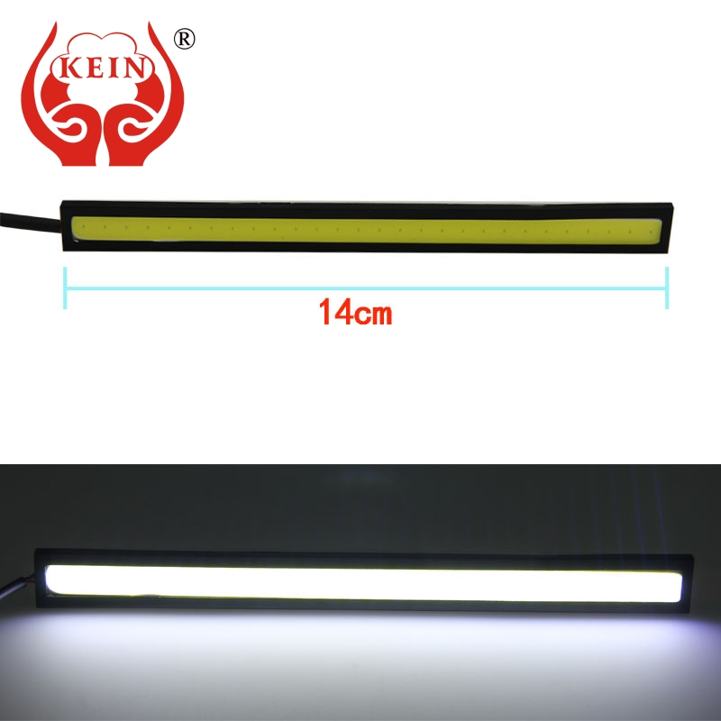 KEIN 2PCS Auto car light 14CM 20LED COB DRL daytime running lights Pathway Lighting Brake Trunk Parking Tail car styling blue